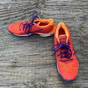 Shoes - Asics Gel-Solution Speed Orange/Purple Running